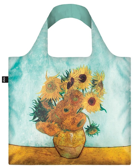 LOQI Museum Collection Shopper Vase with Sunflowers