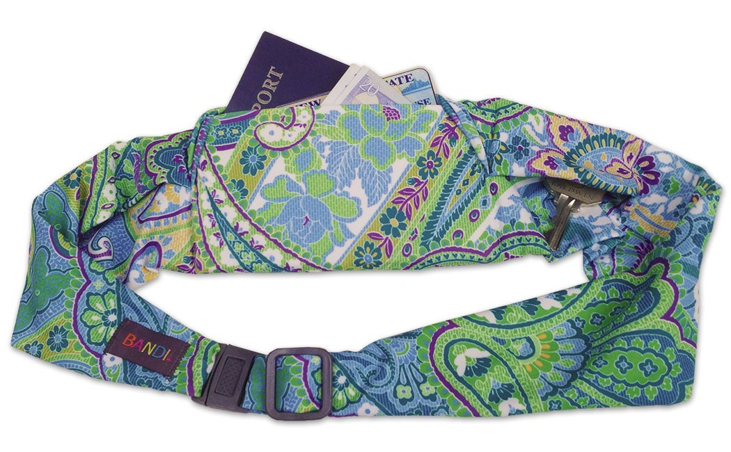 BANDI Belt Large Classic Blue Green Paisley