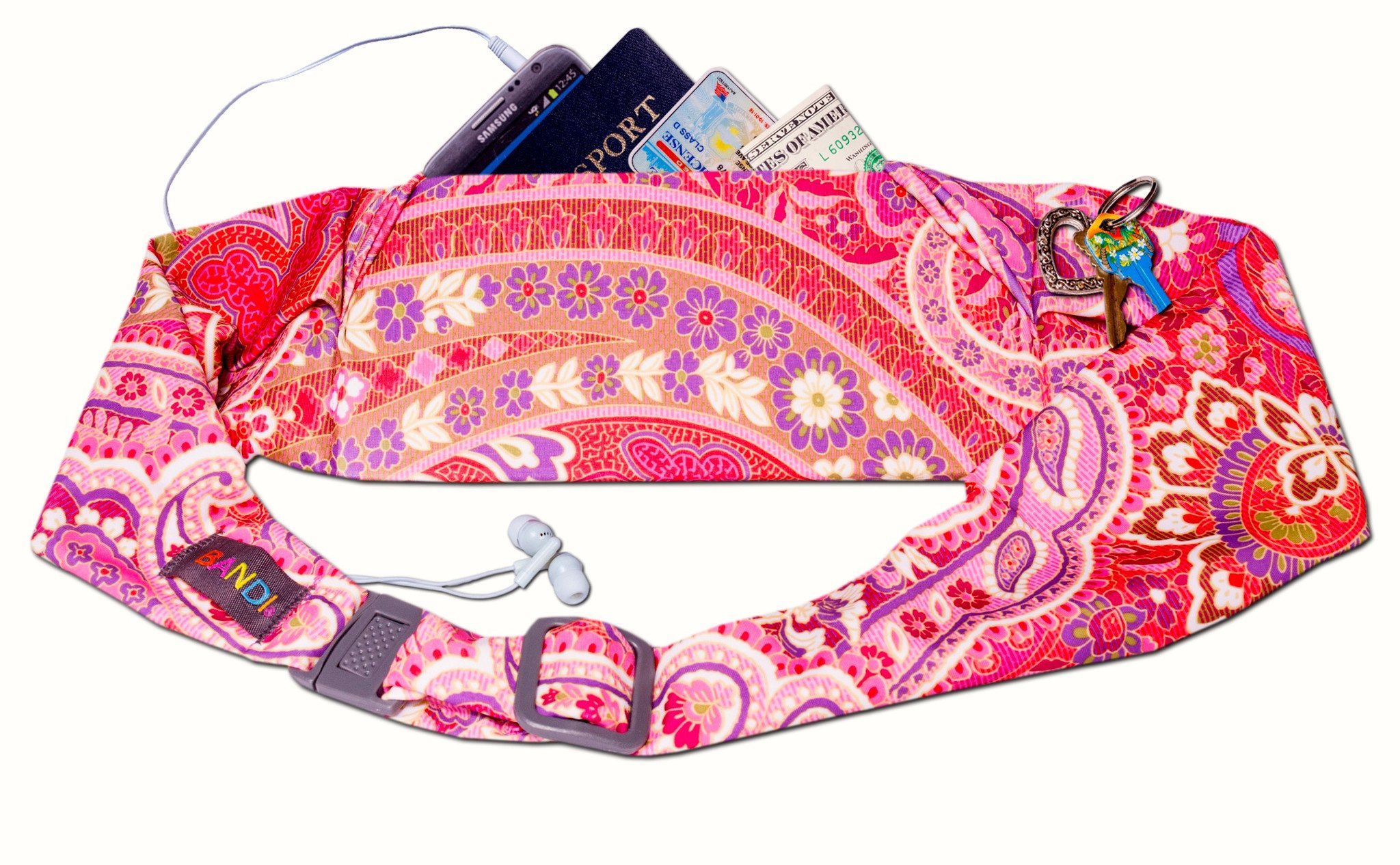 BANDI Belt Large Classic Paisley Blush