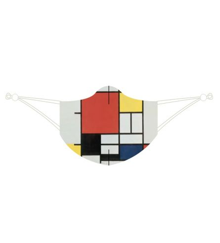 Loqi Mask Piet Mondrian -Composition with Red, Yellow & Blue