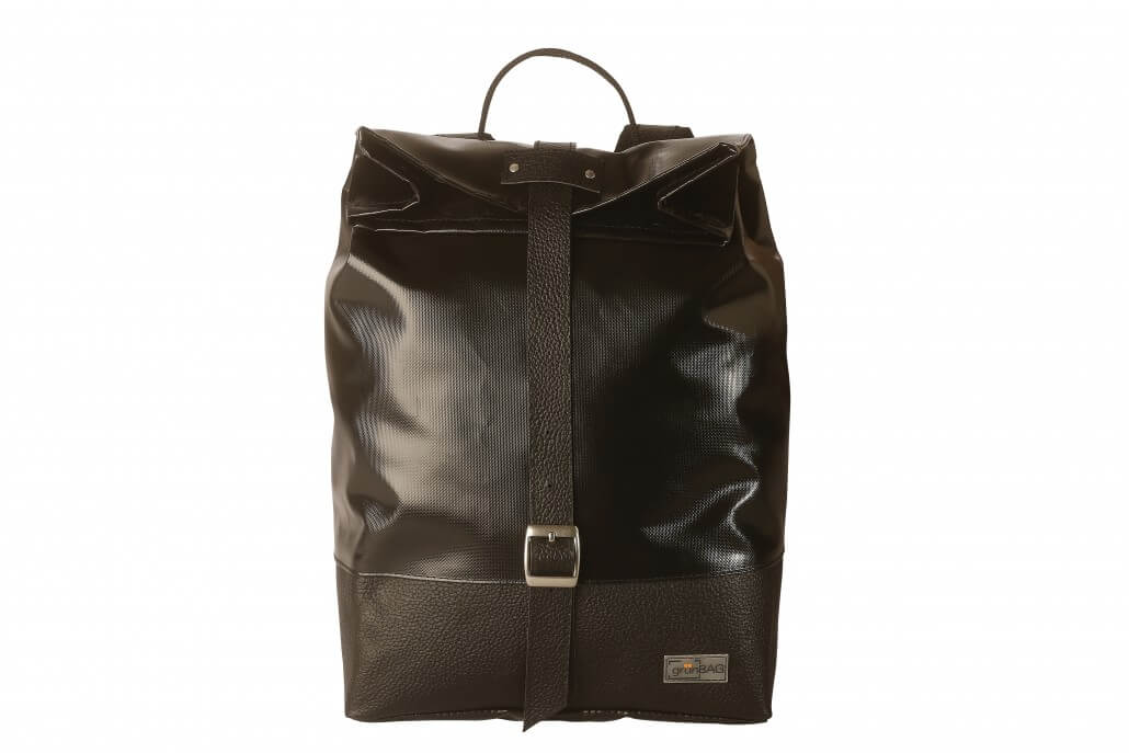 grünBAG Back-Pack Leather-Belt Black
