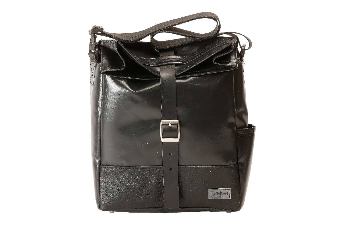grünBAG City Leather-Belt Black
