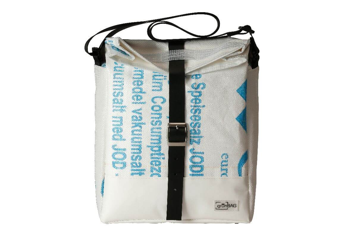 grünBAG City Leather-Belt White