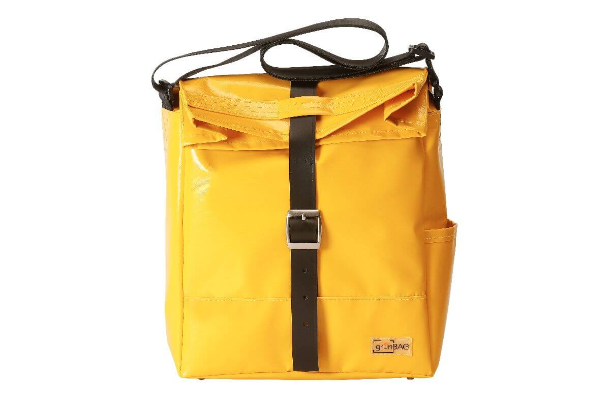 grünBAG City Leather-Belt Yellow