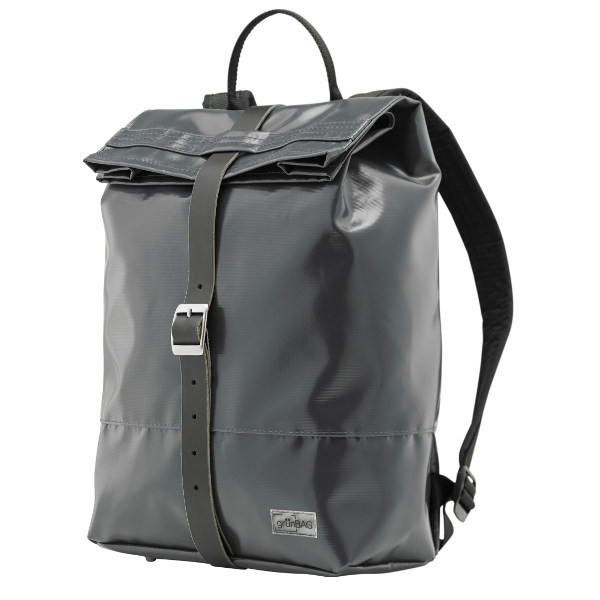 grünBAG Back-Pack Leather-Belt Grey