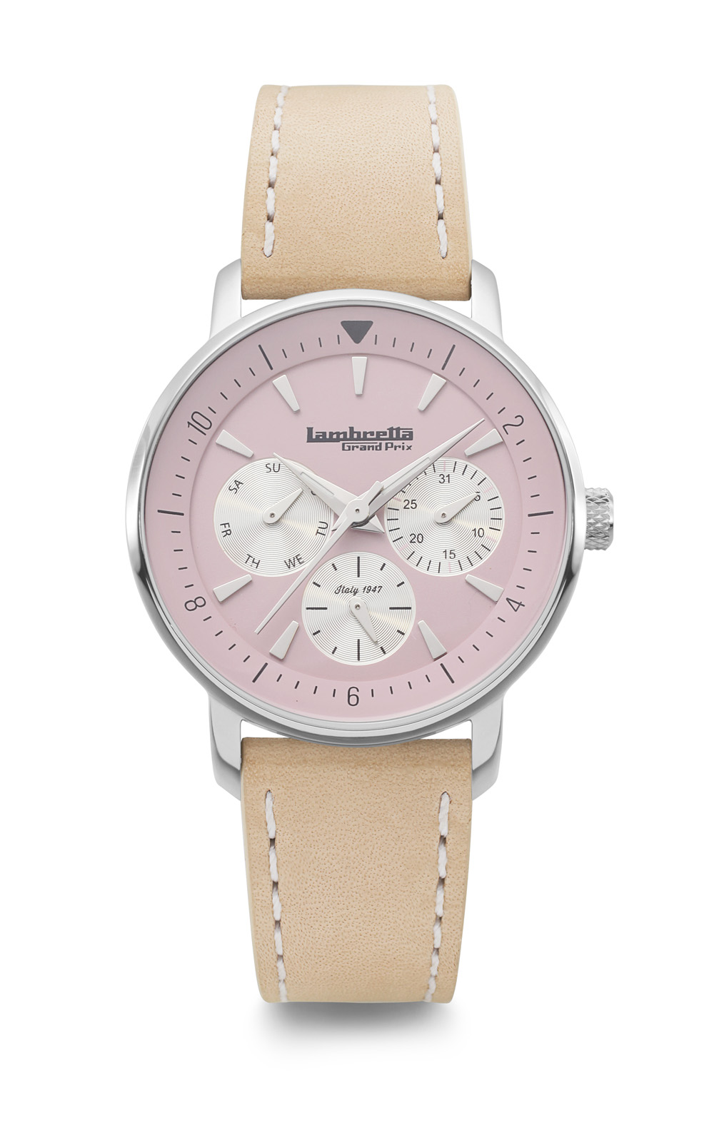 Lambretta Imola 36 Racing Pink Leather Natural 2210PIN