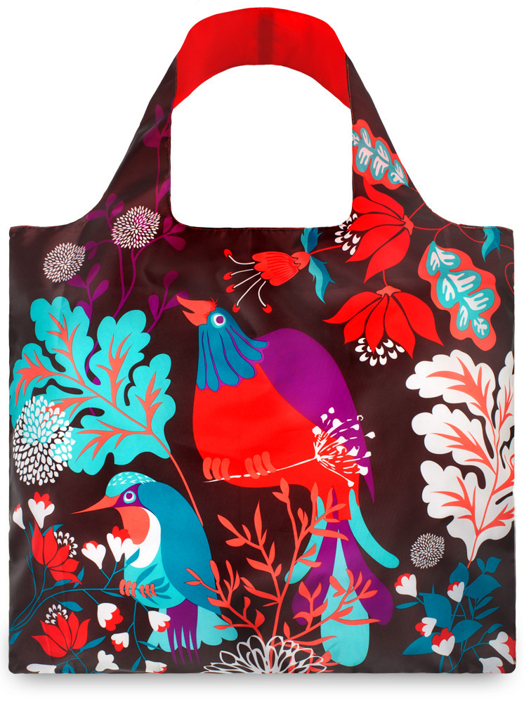 LOQI Shopper Forest Bird by Cristina Caramida