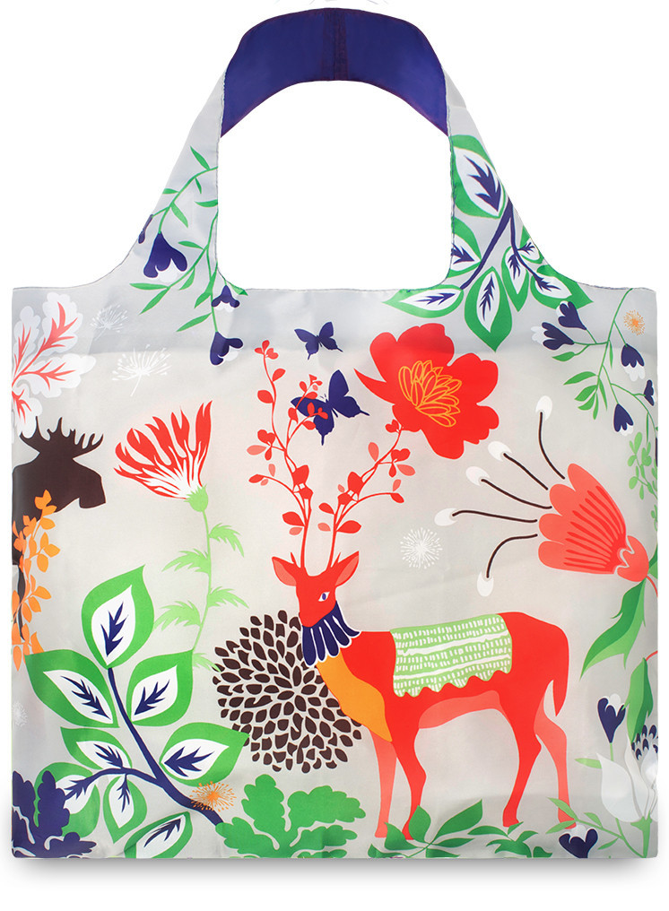 LOQI Shopper Forest Deer by Cristina Caramida