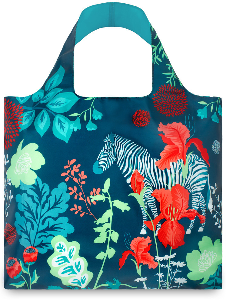 LOQI Shopper Forest Zebra by Cristina Caramida