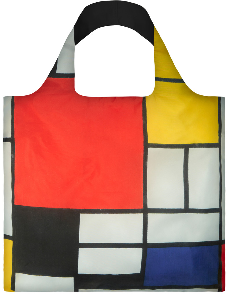 LOQI Piet Mondriaan Composition With Red, Yellow, Blue and Black Shopper