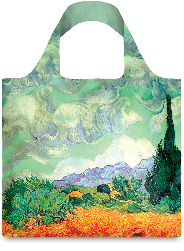 LOQI Vincent Van Gogh A Wheat Field With Cypresses Shopper