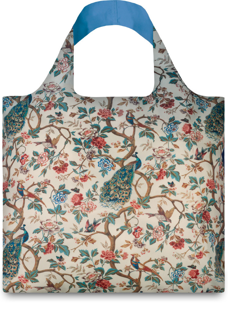 LOQI Wall Hanging With Peacocks & Peonies Shopper