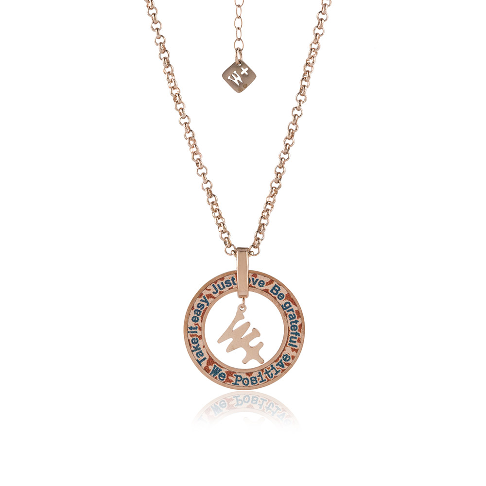 We Positive Necklace Printed Explorer Col. Pink Gold