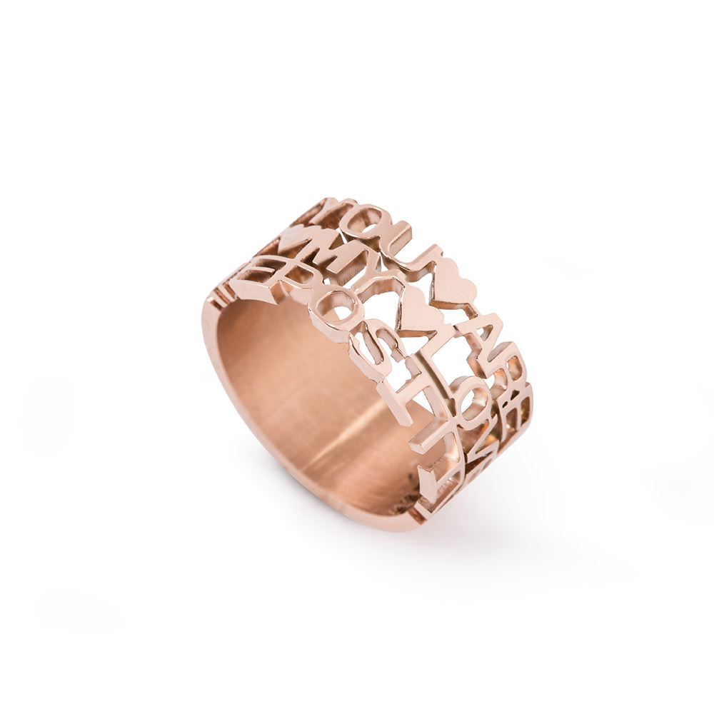 We Positive Ring Col. Pink Gold