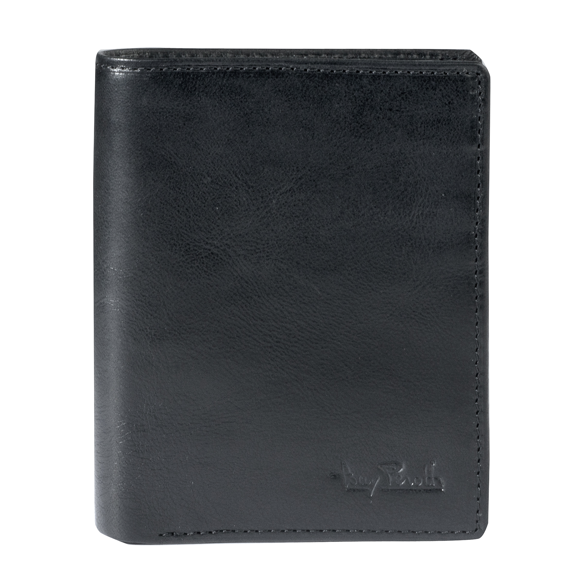 Tony Perotti Vertical billfold with coin pocket and creditcard slots Black