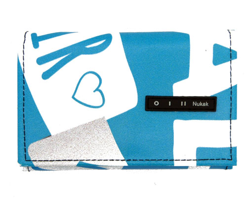 Nukak Pepper Wallet Blue and White