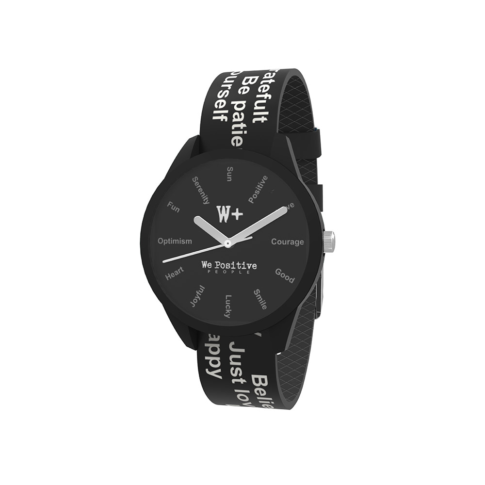 We Positive Watch Printed Crazy Col. Black